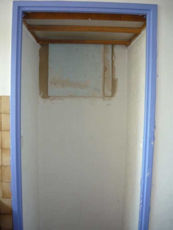 Rebouchage ouverture entre cuisine et salle de bain
