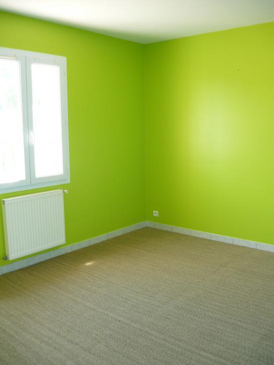 Peinture et sols int rieur chambres orange for Chambre verte