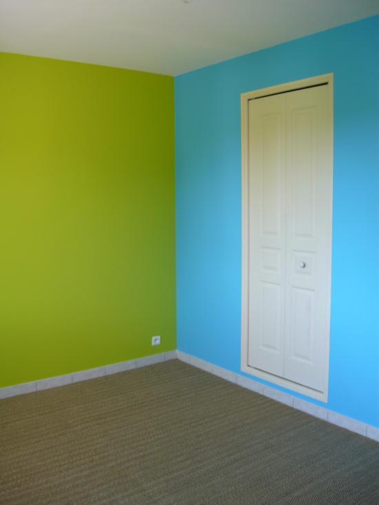 chambre bleu vert peinture et sols intrieur chambres orange - Chambre Bleu Vert