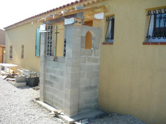Création d'une niche ouverte, linteau avec chaînage
