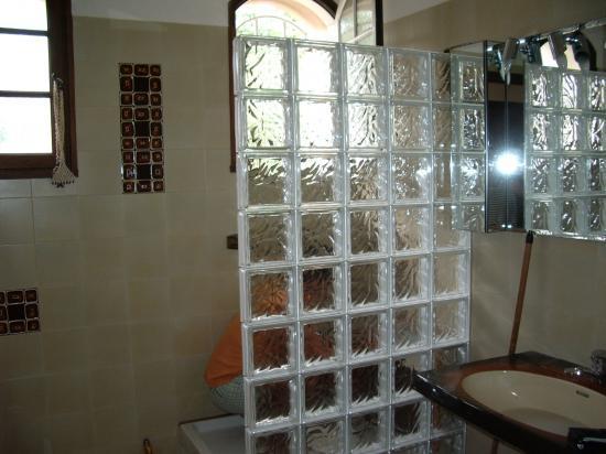 Montage briques de verre et receveur