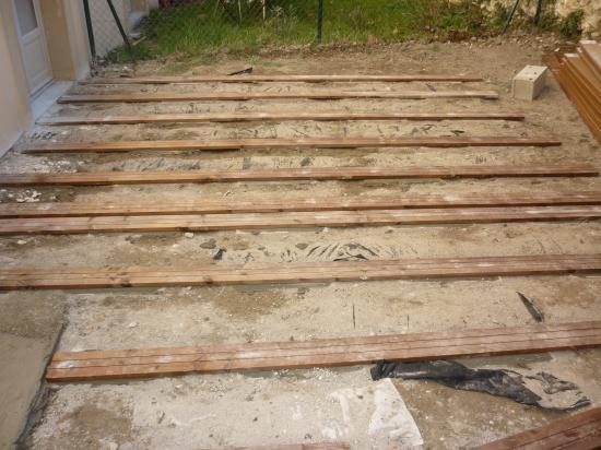 Cr ation d 39 une terrasse en bois composite roquemaure - Geotextile sous terrasse bois ...