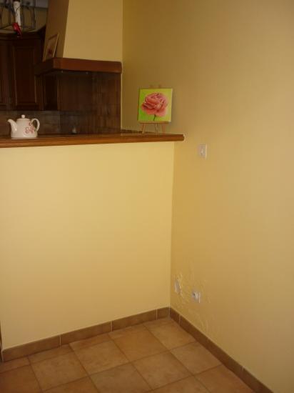 mur cuisine et retour bar
