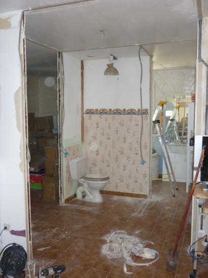 Modification salle de bains en salle d 39 eau l 39 italienne - Salle d eau a l italienne ...
