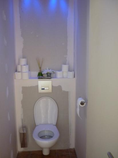 le nouveau wc en place