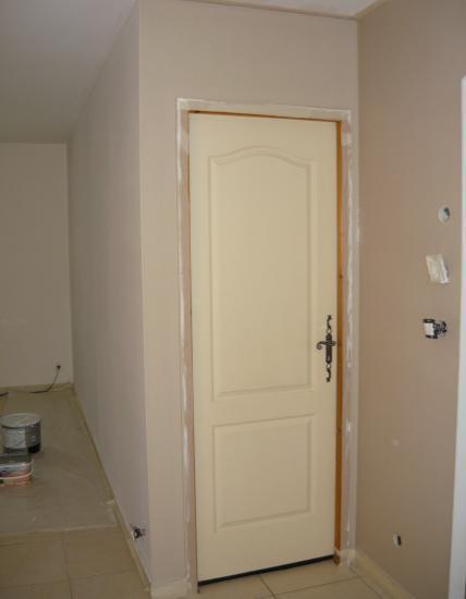 Application nouvelle peinture sur 2e pan mur