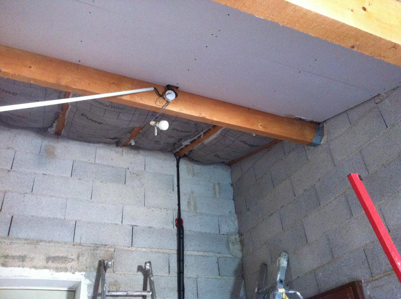 realisation isolation doublage plafond