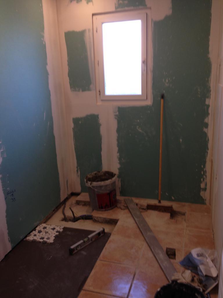 doublage des murs en placo et realisation plomberie