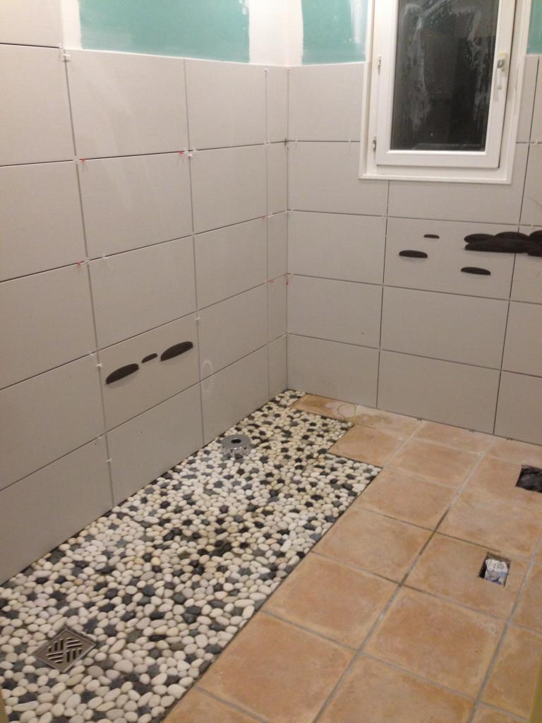 réalisation du sol de douche italienne