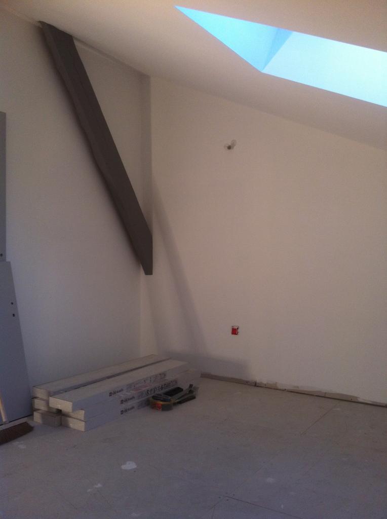chambre etage en peinture