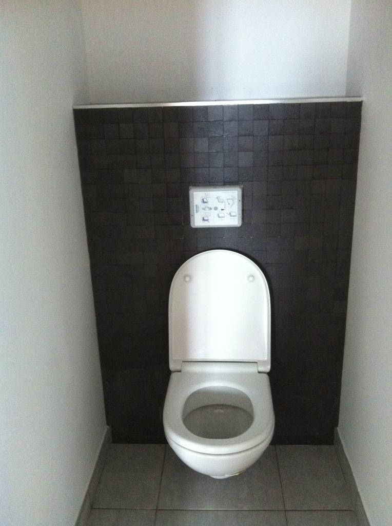 Mise en service du wc