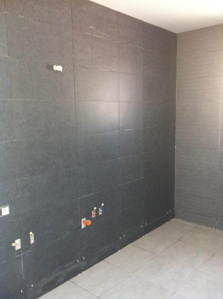 Faience murale espace vasques et baignoire